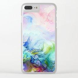 Creative Watercolour / Watercolor Print Clear iPhone Case
