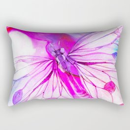 butterfly painting Rectangular Pillow