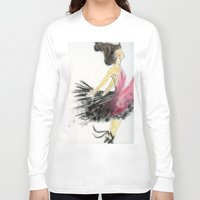 dance Long Sleeve T-shirts featuring Dance by Natalie Woo artwork