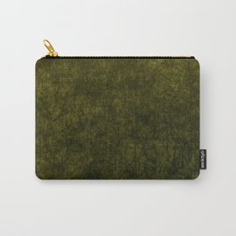 olive green velvet | texture Carry-All Pouch