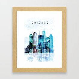 Chicago Illinois Cityscape Framed Art Print