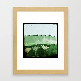 A camper's view 2  Framed Art Print