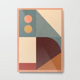 Abstract Geometric Shapes 47 Metal Print