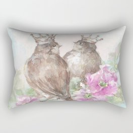 French Crown Songbirds II Rectangular Pillow
