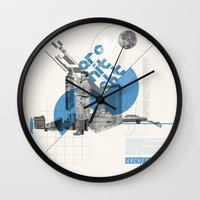 architect Wall Clocks featuring Architect by Kacper Kieć