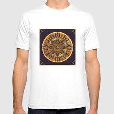 Hieroglyph Moth Mandala 3 Mens Fitted Tee White MEDIUM