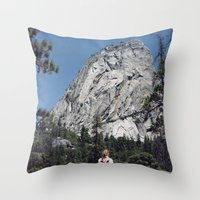 yosemite Throw Pillows featuring Yosemite by Richard PJ Lambert