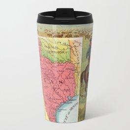 Vintage Texas Map with Illustrations (1890) Travel Mug