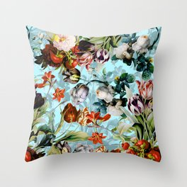 SUMMER BOTANICAL VI Throw Pillow
