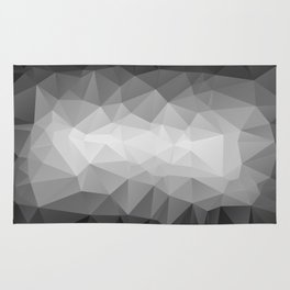 Abstract black and white background of triangles polygon Rug