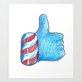 Holiday Thumbs Up Art Print