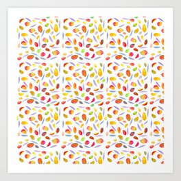 Rosaful Mango pattern Art Print