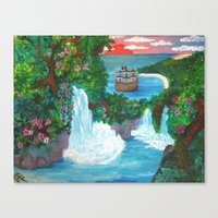 neverland Canvas Prints featuring Neverland by Jadie Miller