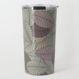 Vector Seamless Leaves Pattern II Travel Mug