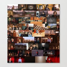 Twin Peaks Illustrated - Complete Poster Canvas Print