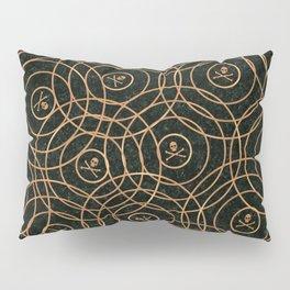 Random Rings Rose Gold Pillow Sham