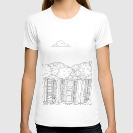 BigFoot Forest (Black and White) T-shirt