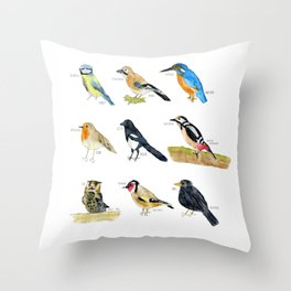 Birds / Vögel Throw Pillow