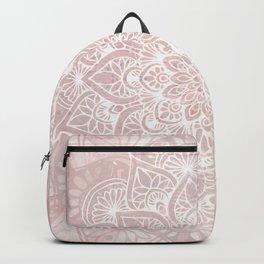 Mandala, Namaste, Yoga Love, Pink Backpack