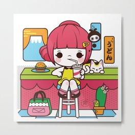 Fuji Girl Metal Print