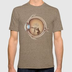 Extraordinary Observer Tri-Coffee LARGE Mens Fitted Tee