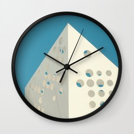 Hole Punched Wall Clock