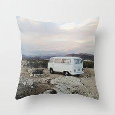 Desert Camper Bus Throw Pillow