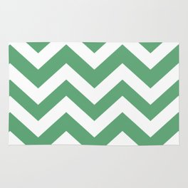 Forest green (Crayola) - green color - Zigzag Chevron Pattern Rug