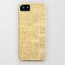 "Leonardo da Vinci ""Notes on bird flight"" iPhone Case"