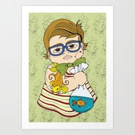 Tattooed Baby 003 Art Print