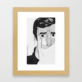 Norman Bates. Framed Art Print