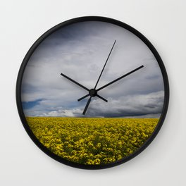 Sky and yellow Wall Clock