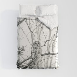 Barred Owl Comforters