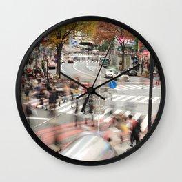 The Bustle of Shibuya, Tokyo Wall Clock