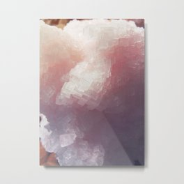 Salt Crystal Metal Print