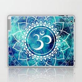 Galaxy Om Mandala Aqua Midnight Blue Laptop & iPad Skin