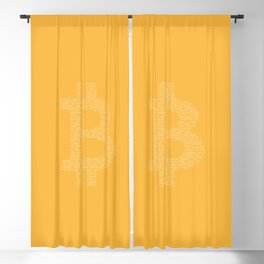 Bitcoin Binary Blackout Curtain