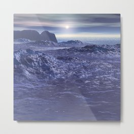 Frozen Sea of Neptune Metal Print