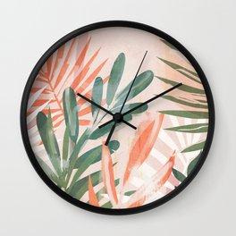 Tropical Leaves 4 Wall Clock