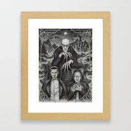 The Classic Horror (Vintage Vampires) Framed Art Print