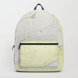 Vintage Map of Lake Erie (1955) Backpack