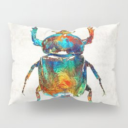 Colorful Beetle Art - Scarab Beauty - By Sharon Cummings Pillow Sham