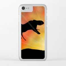 Jurassic Jogger Clear iPhone Case