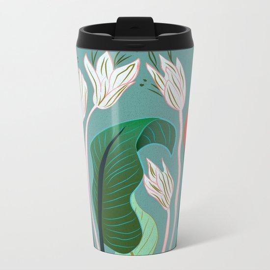 Exotic Dream Flower Metal Travel Mug