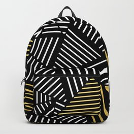 A Linear Black Gold Backpack