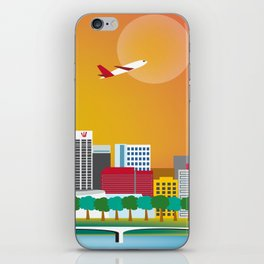 Perth, Australia - Skyline Illustration by Loose Petals iPhone Skin
