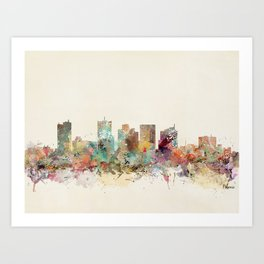 phoenix arizona skyline Art Print