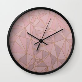 Pink Plexus Style Wall Clock