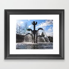 Artistic fountain Framed Art Print