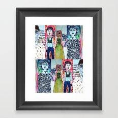 All The Freaks Framed Art Print